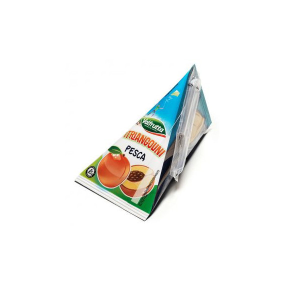VALFRUTTA SUCCHI BRIK FRUTTA TRIANGOLINI PESCA ML.100X8