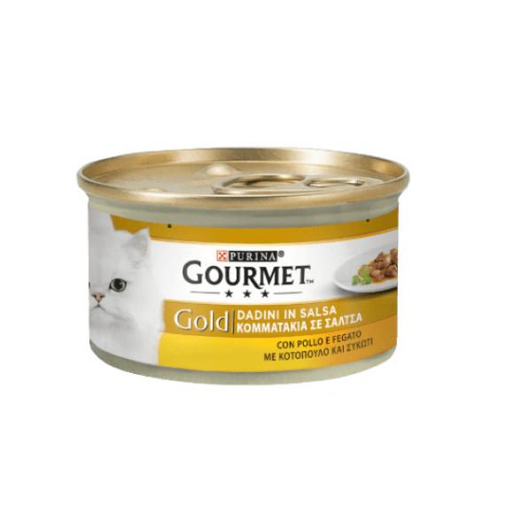 PURINA GOURMET GOLD GATTO DADINI FEGATINI E POLLO GR.85