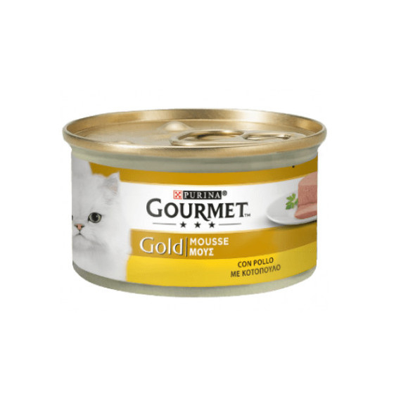 PURINA GOURMET GOLD GATTO MOUSSE CON POLLO GR.85