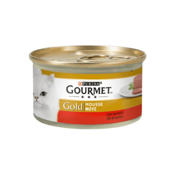 PURINA GOURMET GOLD GATTO MOUSSE CON MANZO GR.85
