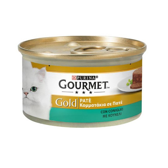 PURINA GOURMET GOLD GATTO PATE CON CONIGLIO GR.85