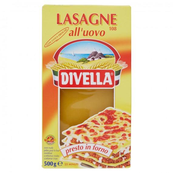 DIVELLA LASAGNE ALL' UOVO N.108 GR.500