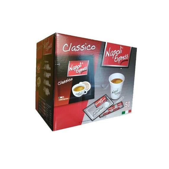 NAPOLI EXPRESS CAFFE' CLASSICO KIT 50 CIALDE+BUSTINE+BACCHETTE
