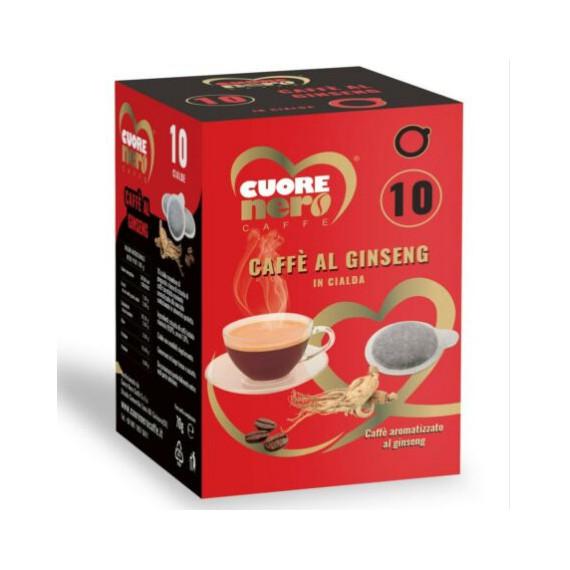 CUORE NERO CIALDE CAFFE AL GINSENG PZ 10