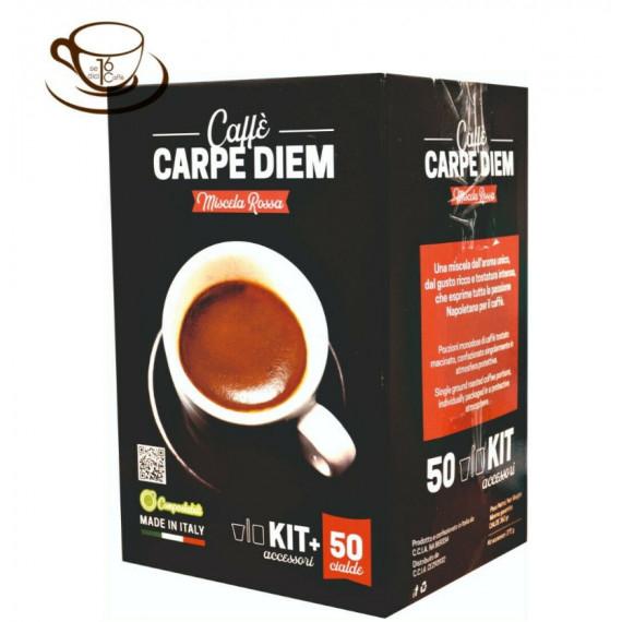 16DICI CAFFE' CIALDE CARPE DIEM RED KIT PZ.50
