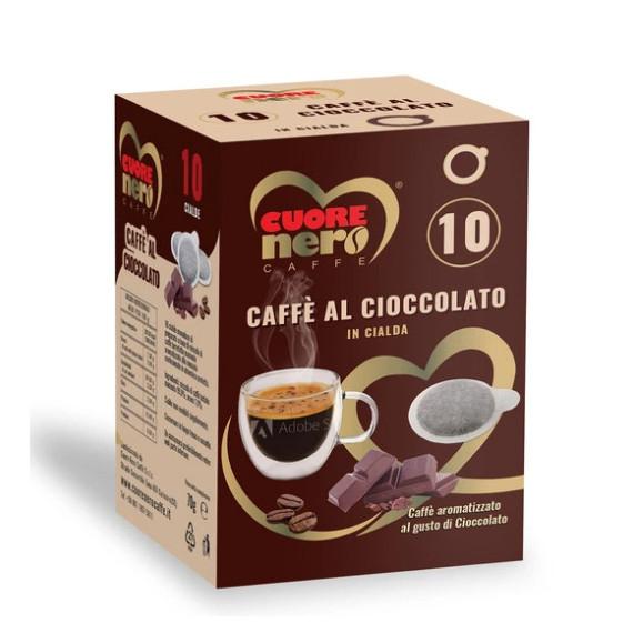 CUORE NERO CAFFE' CIALDE AL CIOCCOLATO PZ.10