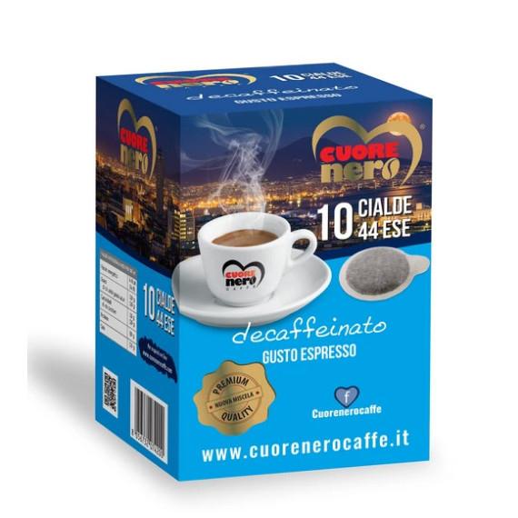 CUORE NERO CAFFE CIALDE DECAFFEINATO PZ 10