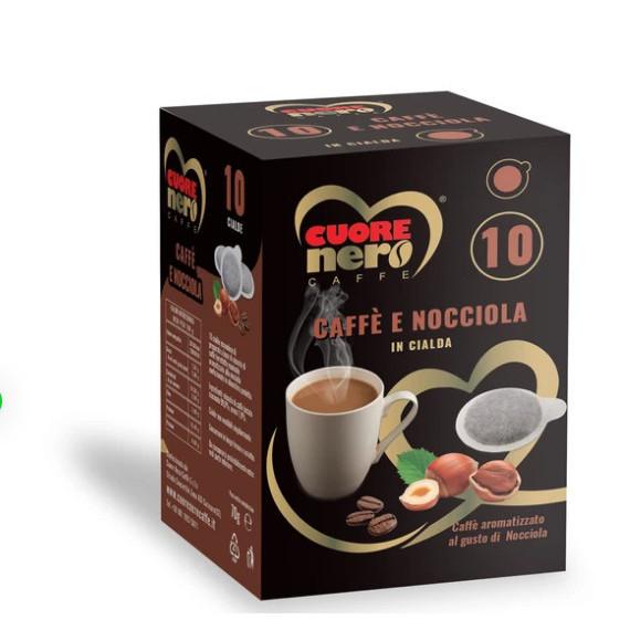 CUORE NERO CAFFE CIALDE NOCCIOLA PZ.10