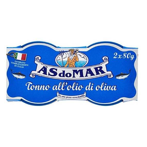 AS DO MAR TONNO ALLOLIO DI OLIVA IN VETRO 2X80GR