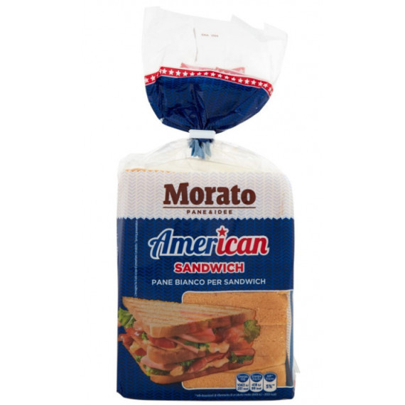 MORATO PANE BIANCO AMERICAN SANDWICH GR.550