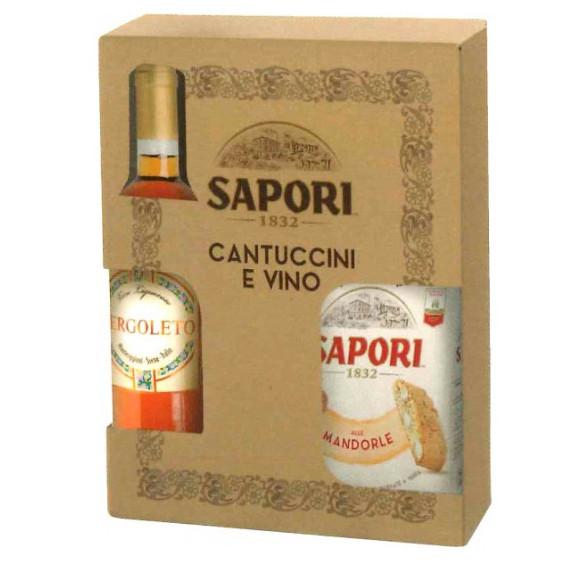 SAPORI CONFEZIONE CANTUCCINI/VINO GR.550