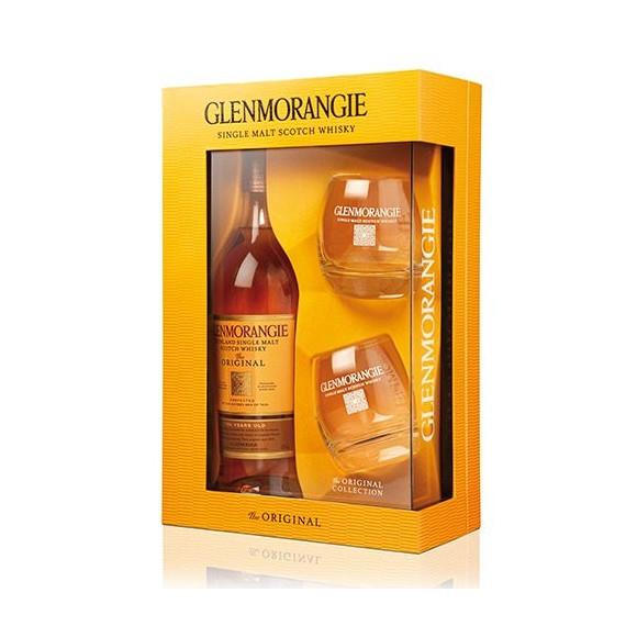 GLENMORANGIE SCOTCH WHISKY THE ORIGINAL CL.70 CONFEZIONE E 2 BICCHIERI