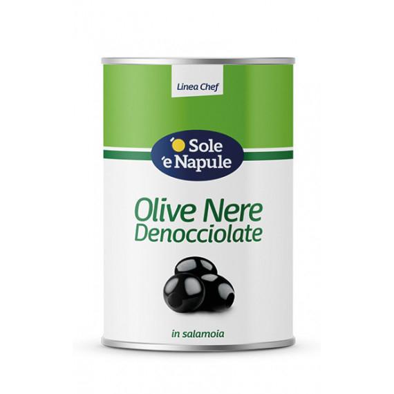 OLIVE NERE DENOCCIOLATE KG.4,100 O SOLE E N.