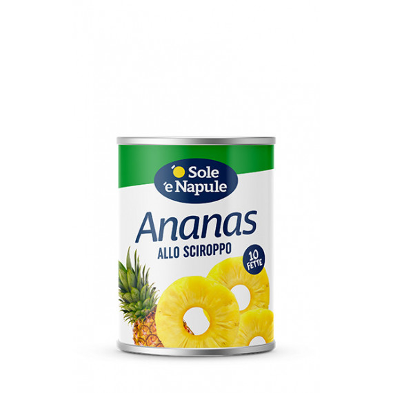 ANANAS A FETTE SCIROPPATE GR.560 O SOLE E NAPULE