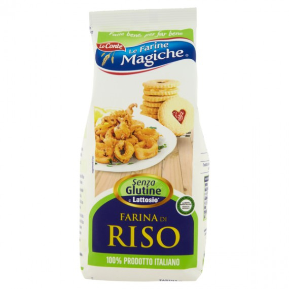 LO CONTE LE FARINE MAGICHE FARINA DI RISO GR.500 100% ITALIANO