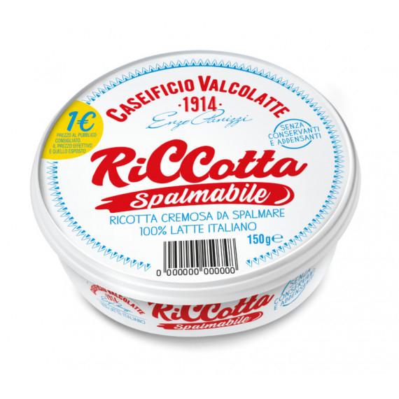 VALCOLATTE SPALMABILE DI RICOTTA GR.150