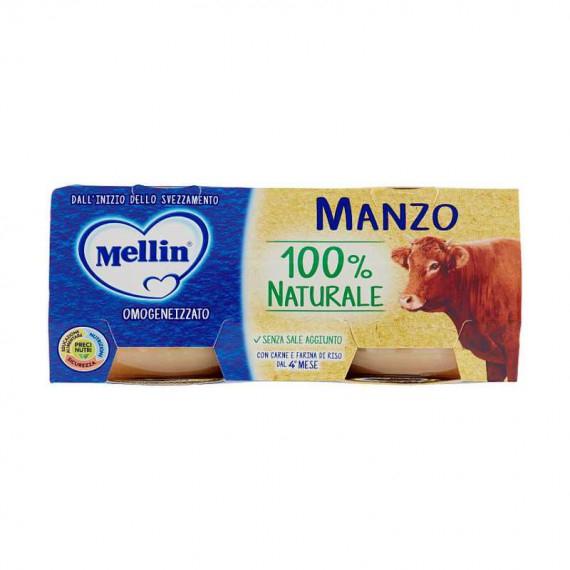 MELLIN OMOGENEIZZATO DI MANZO 100% NATURALE GR.80X2