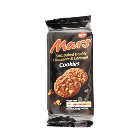 MARS SOFT BAKED DOUBLE CHOCOLATE E CARAMEL COOKIES GR.162