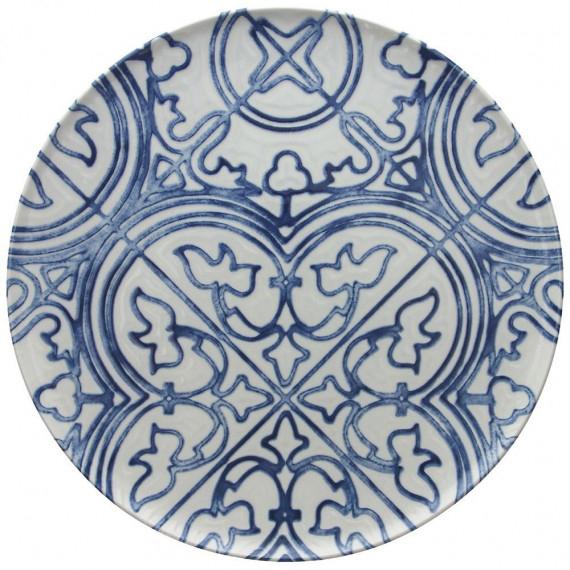 Copia di tognana piatto piano maiolica seaside cm.30,8 pezzi 6