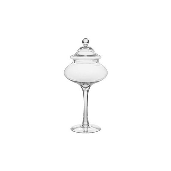 barattolo alzata ampolla in vetro soffiato con coperchio per confettate Øcm.20 h.43