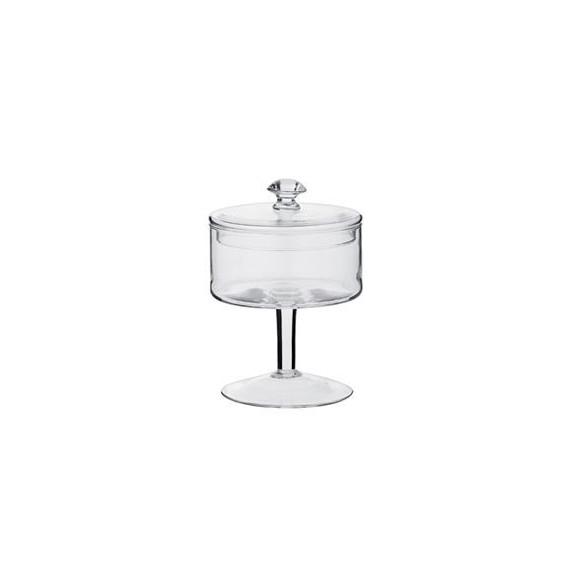 Copia di Copia di barattolo alzata ampolla in vetro soffiato con coperchio per confettate Øcm.20 h.43