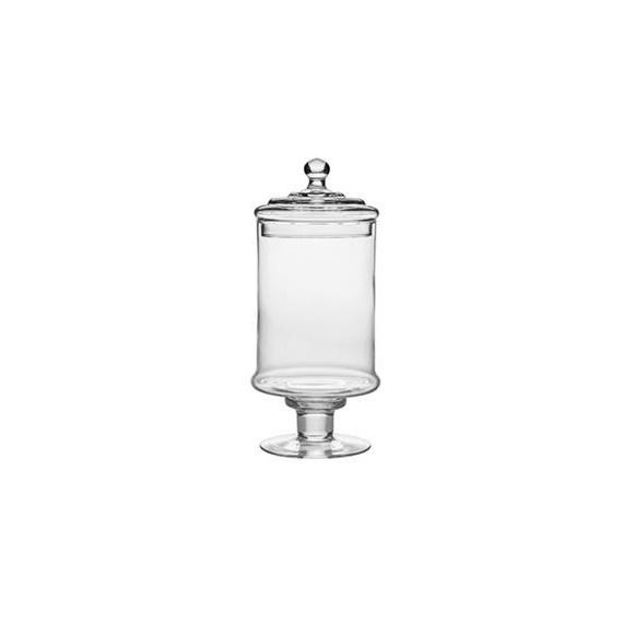 barattolo in vetro soffiato per centrotavola o confettate Ø cm.11,5 h.33