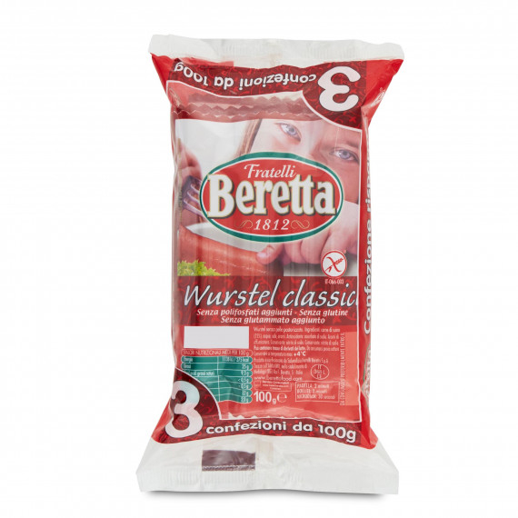 BERETTA WURSTEL SUINO 3X100GR