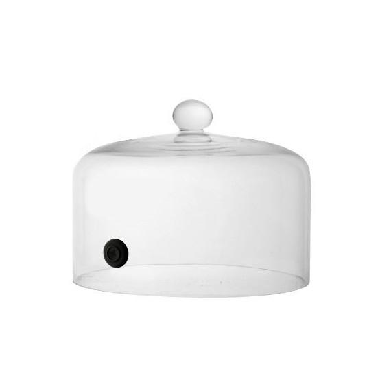 Soge campana in vetro con foro per affumicatura Ø cm.19,5 h.15,5