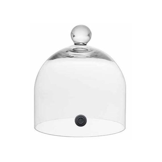 Copia di Copia di Soge campana in vetro con foro per affumicatura Ø cm.19,5 h.15,5