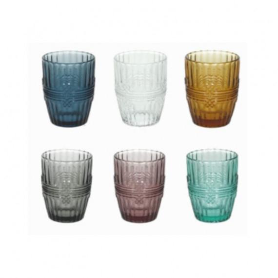 Tognana ionico bicchieri acqua cl.28 vari colori assortiti pezzi 6