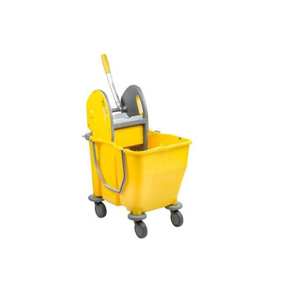 Medial secchio pulizie doppia vasca con ruote e strizzatore mop professionale lt.30 cm.60x36 h.82