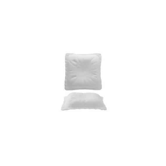 Mri piatto gourmet cuscino in vetro bianco quadrato cm.29x29  pezzi 2