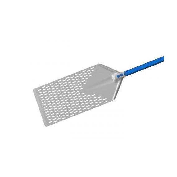 Gimetal pala per pinsa romana in alluminio rettangolare forata cm.40x23 manico cm.60