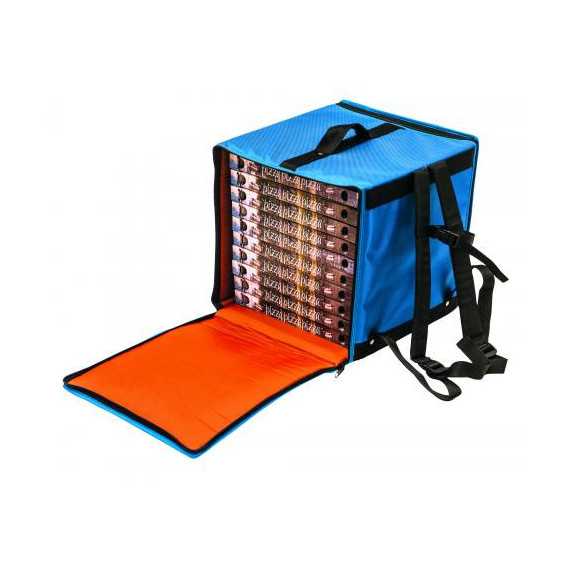 Gimetal borsa zaino termico per trasporto fino a 10 pizze cm.36x36 h.40