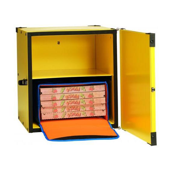 Gimetal box coinbentato rigido per trasporto pizze cm.47x47 h.52