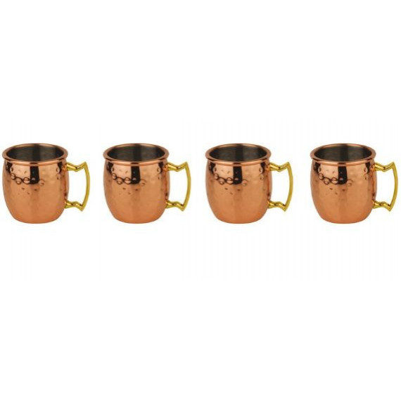 Paderno mini moscow mule mug martellato placcato rame ml.60 pezzi 4