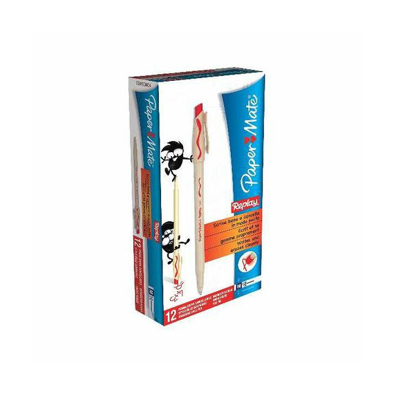 PAPERMATE BLISTER 2 PENNE REPLAY NEW ROSSA PEZZI 10