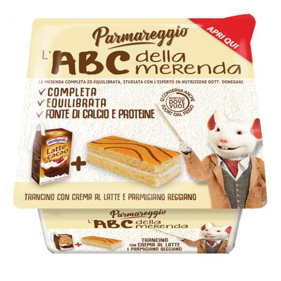 PARMAREGGIO L'ABC DELLA MERENDA CON TRANCINO CON CREMA LATTE