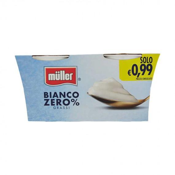 MULLER YOGURT 0% GRASSI BIANCO CREMOSO 2X125 GR.