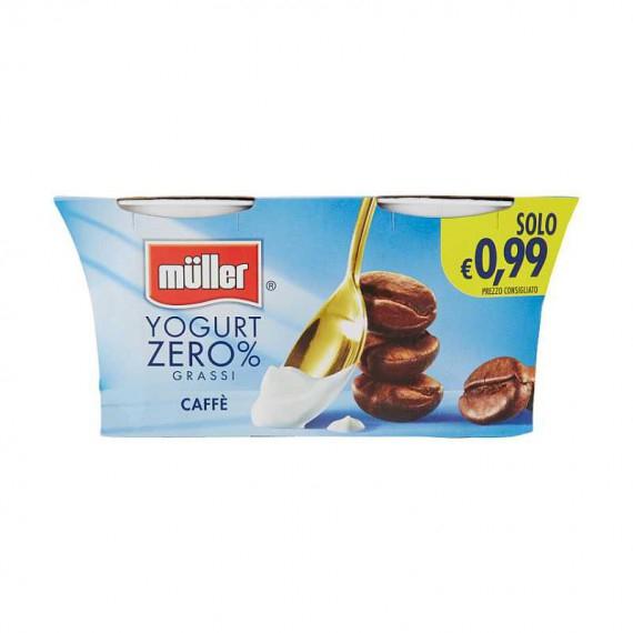 MULLER YOGURT 0% GRASSI CAFFE' 2X125 GR.