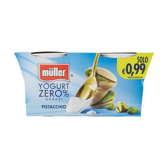 MULLER YOGURT 0% GRASSI PISTACCHIO 2X125 GR.