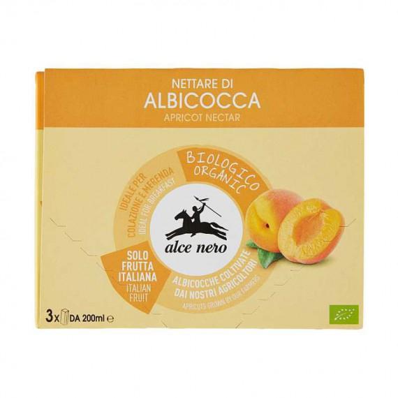 ALCE NERO NETTARE DI ALBICOCCA 3X200 ML.