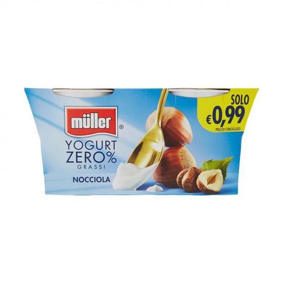 MULLER YOGURT 0% GRASSI NOCCIOLA 2X125 GR.