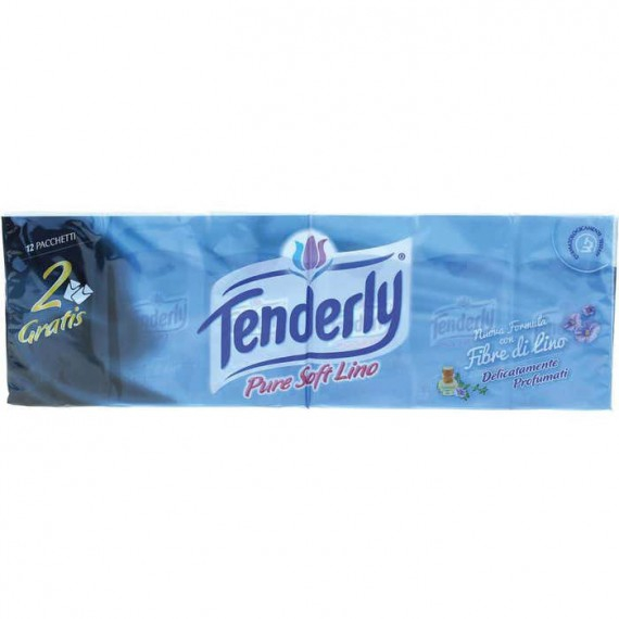 TENDERLY FAZZOLETTI CARTA PURE SOFT LINO PZ.12