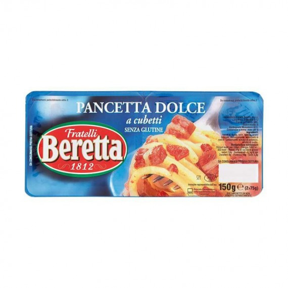 BERETTA PANCETTA DOLCE A CUBETTI 2X75 GR.