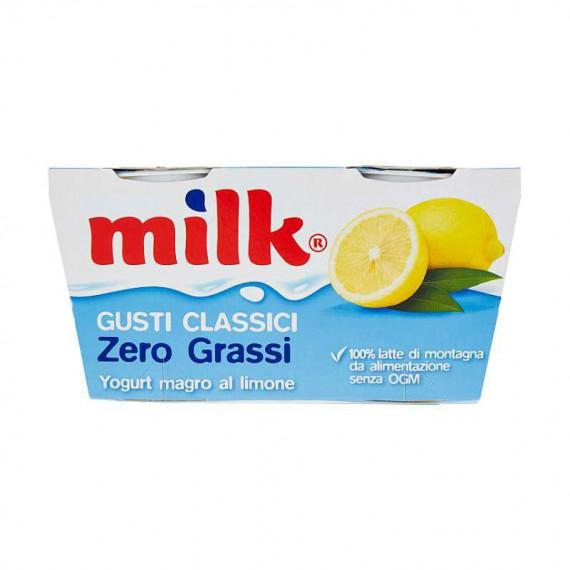 MILK YOGURT MAGRO ZERO GRASSI AL LIMONE 2X125 GRAMMI