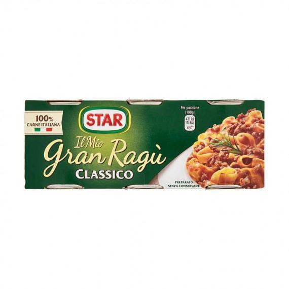 STAR IL MIO GRAN RAGU' CLASSICO PEZZI 3X100 GRAMMI