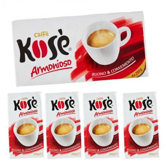 KOSE' CAFFE' ARMONIOSO ROSSO 4X250 GR.