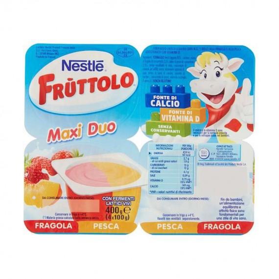 NESTLE FRUTTOLO MAXI DUO FRAGOLA E PESCA 4X100 GR.