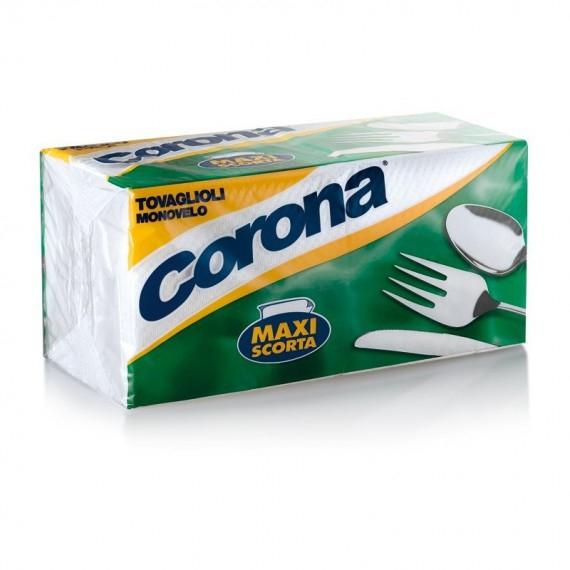 CORONA TOVAGLIOLI MONOVELO 33X33 MAXI SCORTA PZ.180